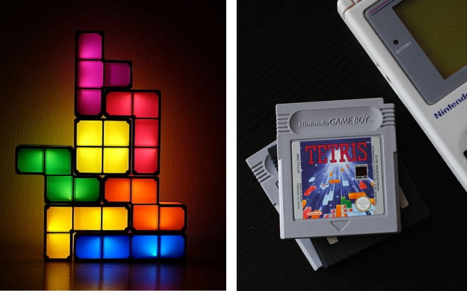 Tetris Artwork and Game Boy Game