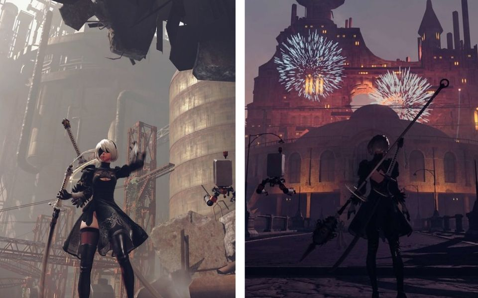 Nier Automata Video Game Gameplay