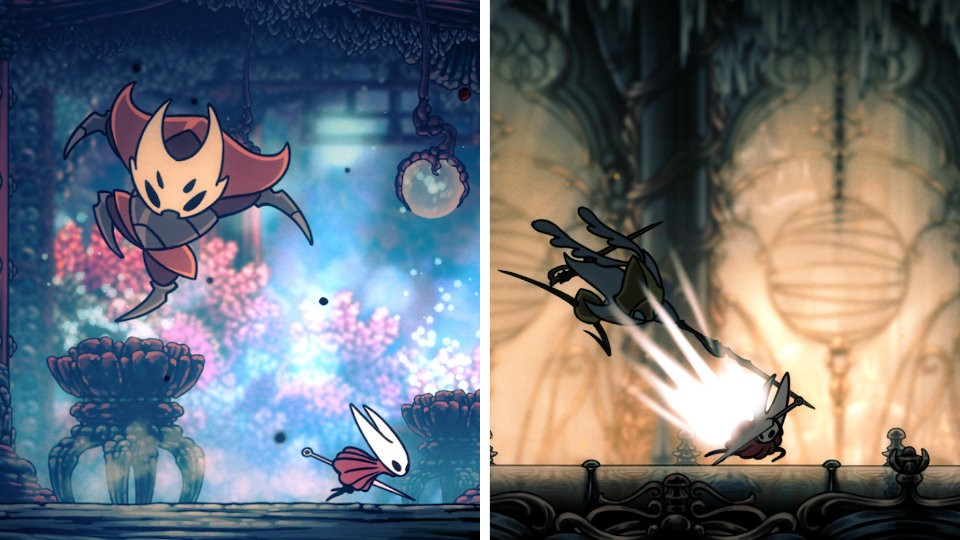 Screen Grabs from Hollow Knight by Silksong Game by Team Cherry