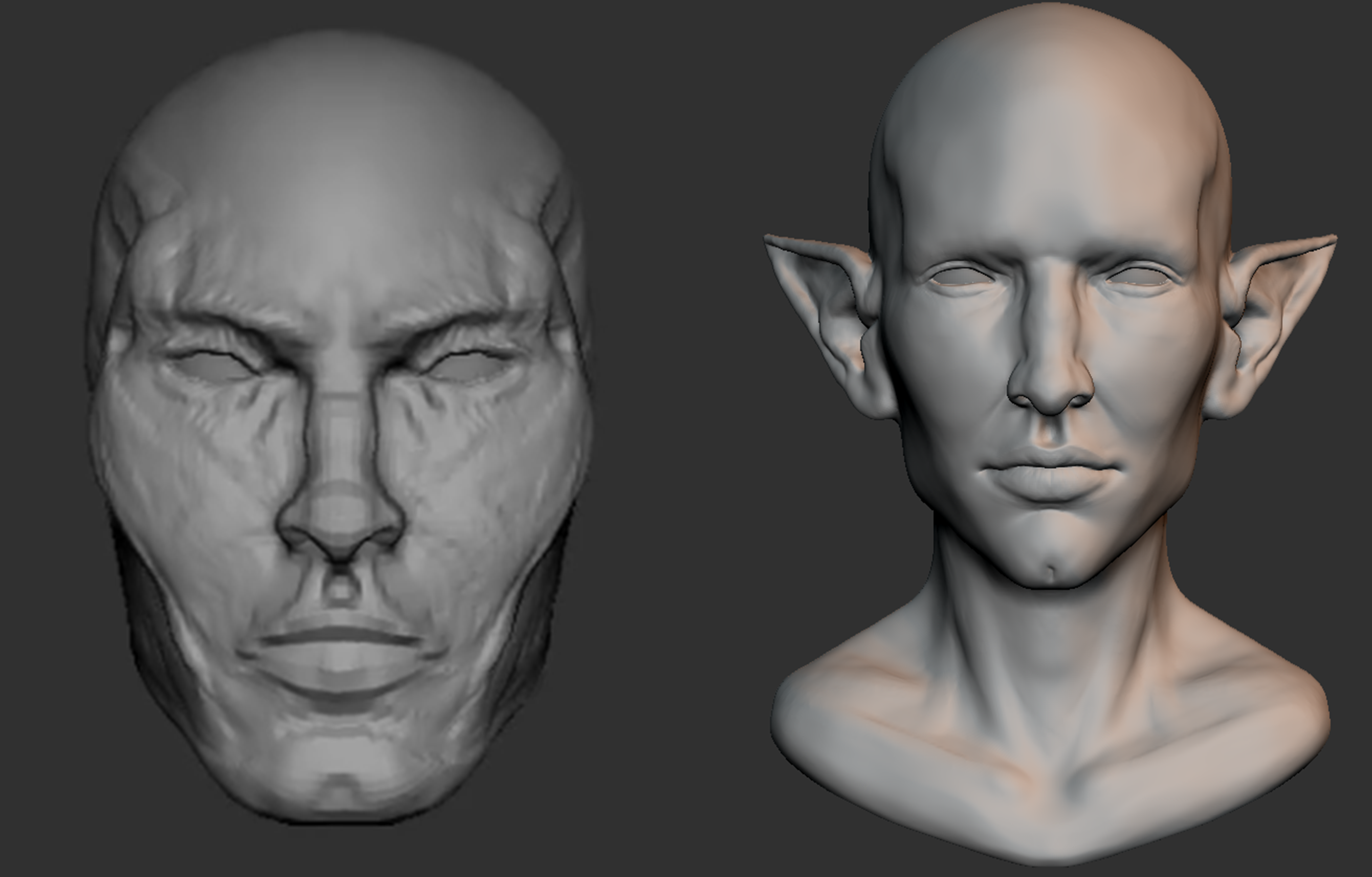 Solas sculpt by author, Character from Bioware's Dragon Age