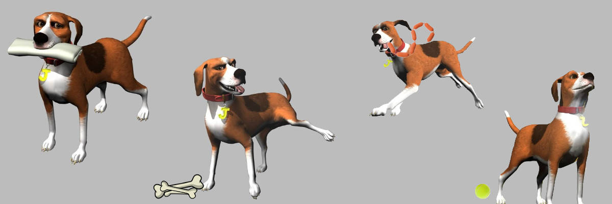 Character stills from Dogs Life PS2 Game