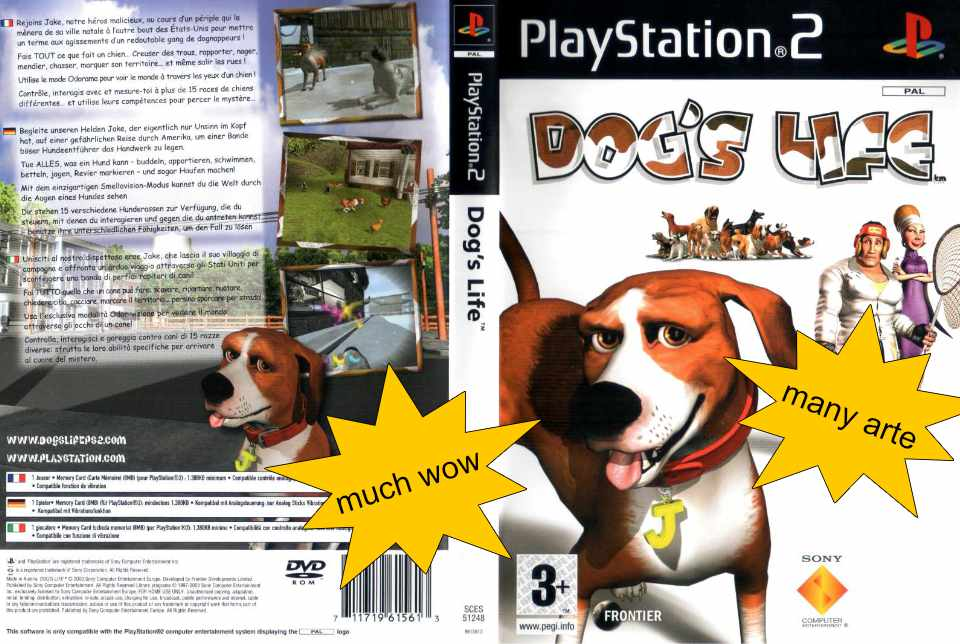Box art for Ps2 Game Dogs Life
