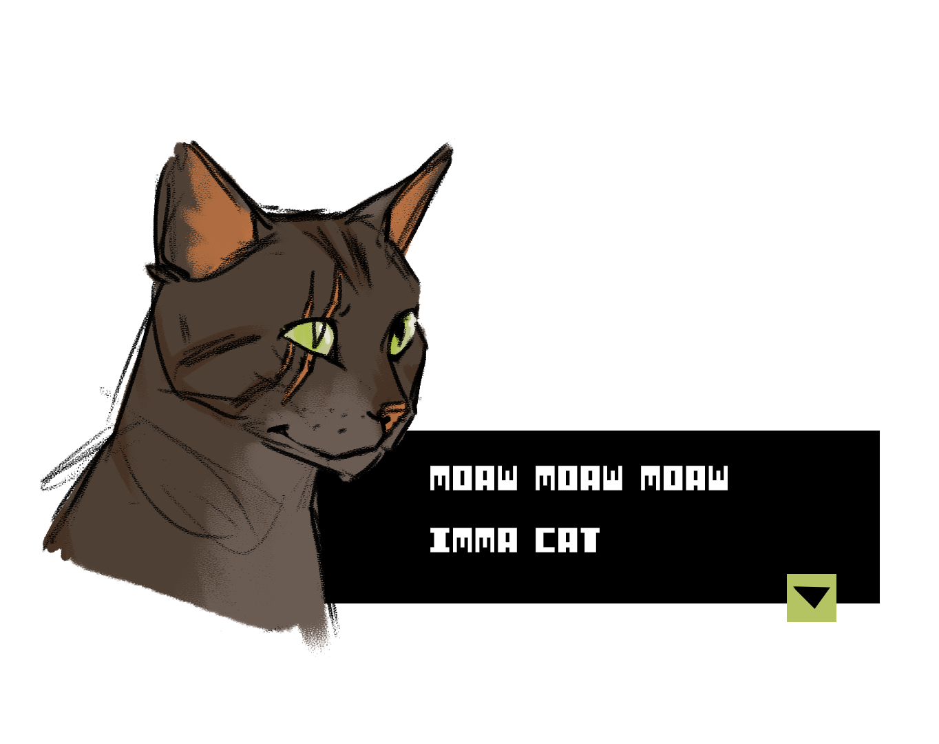Cat character art by Sophie Morris