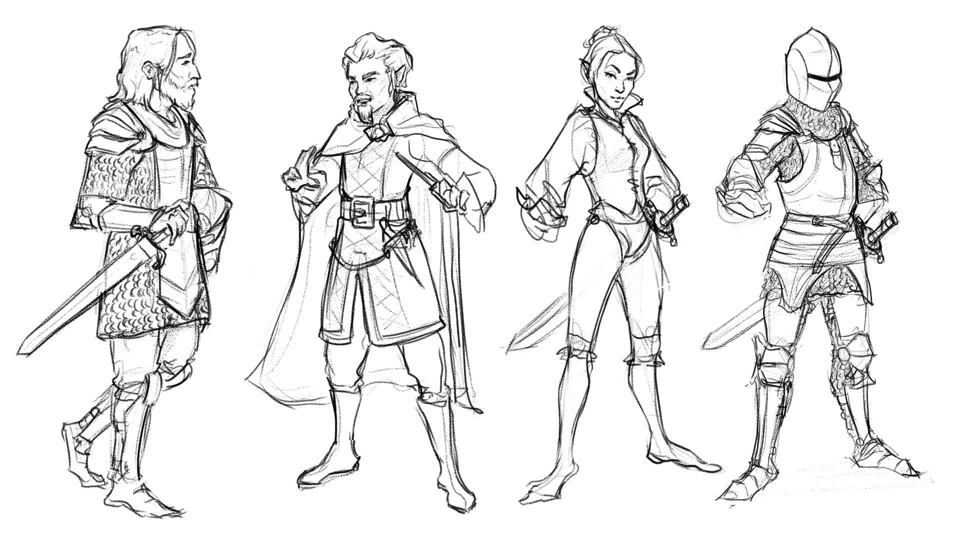 Character sketches by Sophie Morris